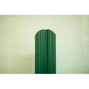 Штакетник фигурный Зеленый 1,25м М-обр.