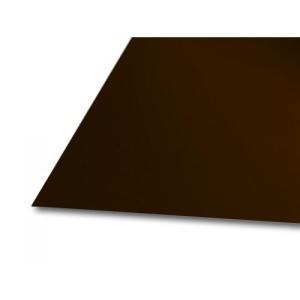 Лист гладкий шокол. 1,25*2м толщ. 0,4  в пленке