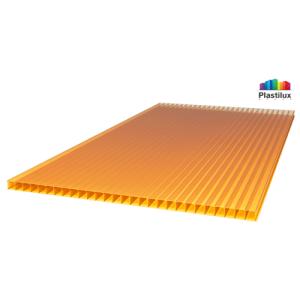 Сотовый поликарбонат SUNNEX оранжевый 8мм 12м
