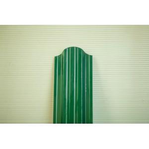Штакетник фигурный Зеленый 1,25м П-обр.