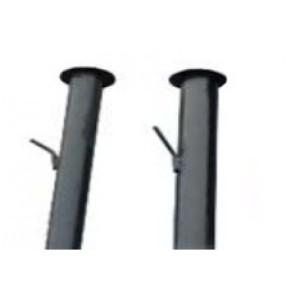 столб круглый d51 с планкой 2,4м  толщ.2  грунт