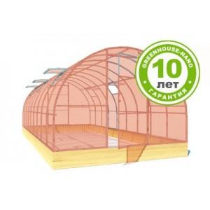 Теплица Радуга Усиленная 8м (каркас+поликарбонат agro GREENHOOSE-nano 4мм)